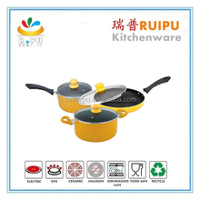 2017 OEM Factory Supply! Multi-color cookWorld cookware,yellow and pink cookware pots and pans,dessini fry pan