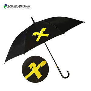 22''8k auto open black yellow fabric metal frame kids cartoon umbrella