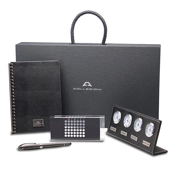 luxury office set with diary high quality fine pen perpetual calendar