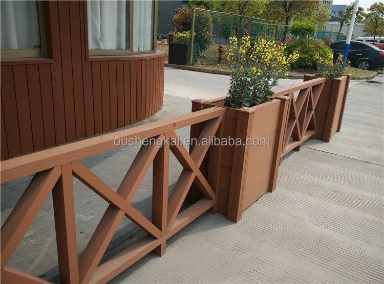 European style beatiful wpc wpc railing MADE IN CHINA pergola flooring and fence