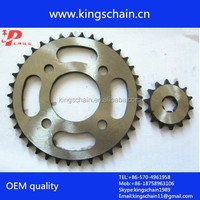 Africa motorcycle parts wholesale GN125 motorcycle chain and sprocket kits