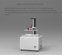 Most popular desktop LCD 3d printer ,highest precision SLA 3d printer printing machine
