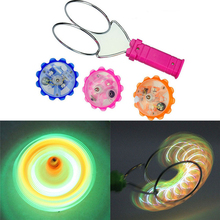 Classic Light-Up Magnetic YoYo Gyro Wheel toys cheap price LED Flashing Spinning Top funny Kids Toys