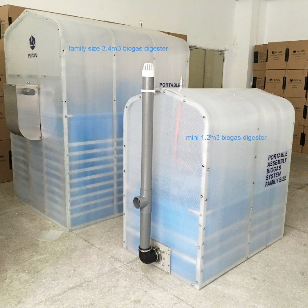 Household mini size portable biogas plant