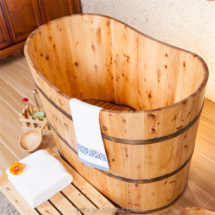 Wood Small Size Bathtub, Bathroom Bathtub