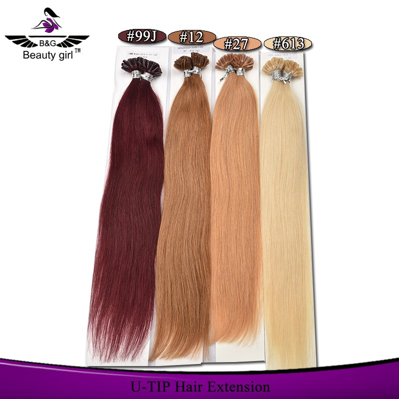 wholesale 2g micro loop human hair extension remy indian flat tip hair extension