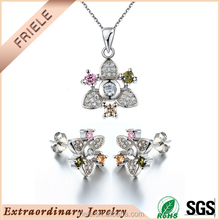 wholesale handmade 925 sterling silver jewelry set
