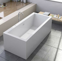 Popular Cheap Simple design stone resin Bathtub with Factory Price