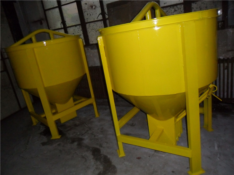 2016 new design China factory 0.35 cbm cement concrete bucket for tower crane