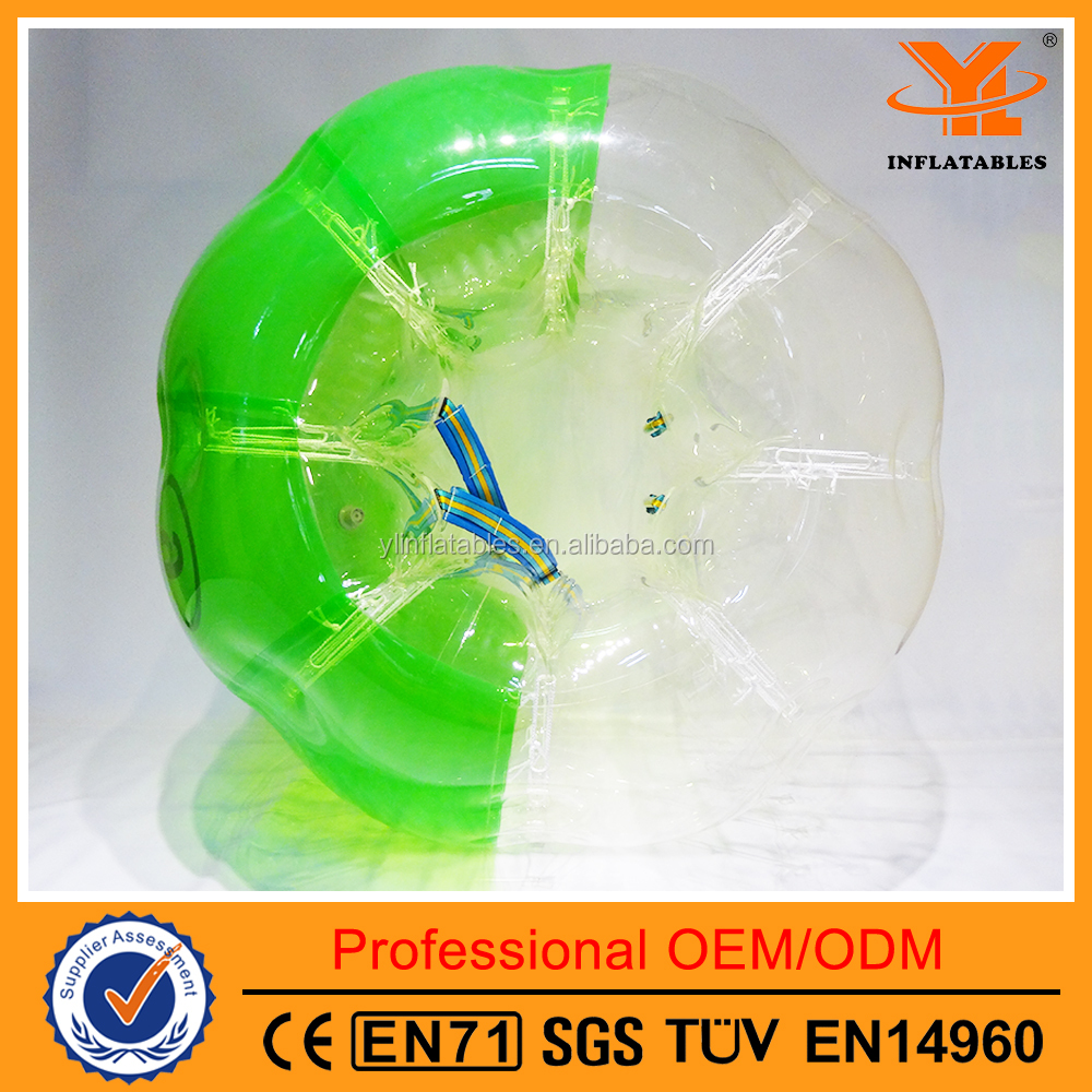 TPU Inflatable Green Bumper Ball,Hot Sale Inflatable Bubble Soccer Ball