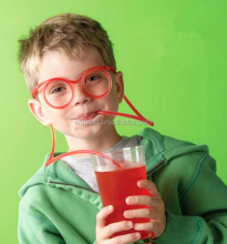 Glasses Designing Funny Kids Drinking Straw