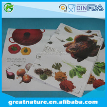 Custom printed disposable paper tray liners