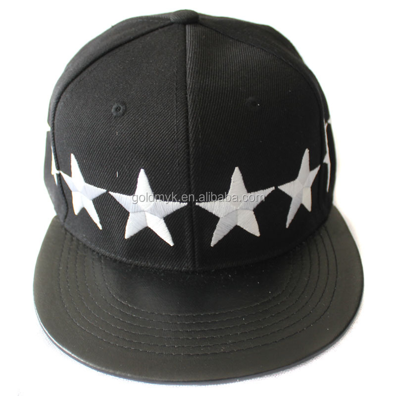 High quality custom embroidered 100% cotton 6 panel Baseball Cap