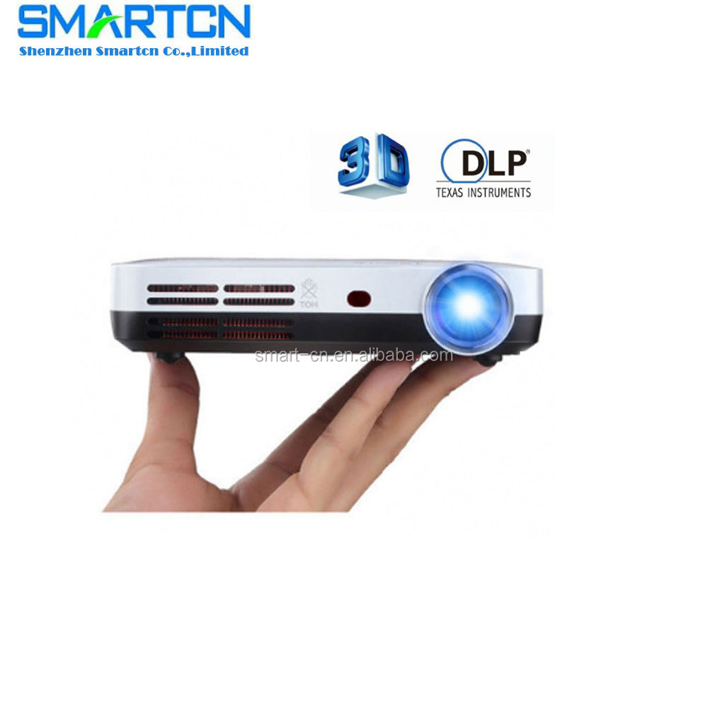 Mini HD Ready HDMI 720P DLP Smart Ultra Short Throw 3D led projector