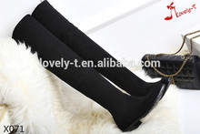 classic black women genuine leather suede thigh over the knee boots