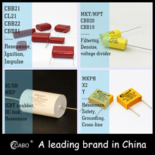 Manufacturer Supplier matallized polypropylene capacitor (axial lead type) /cbb20 335/250