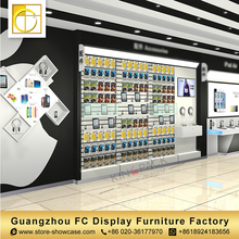 master design furniture custom shop interior design cell phone accessory display rack mobile shop counter design