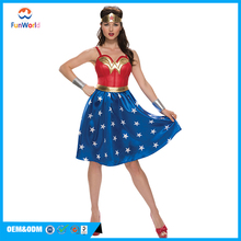 Best popular style sexy wonder woman costume dress for sale