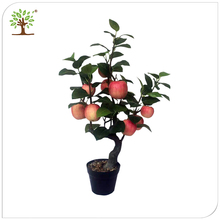 green artificial apple tree branches and leaves indoor decor,wholesale plastic artificial apple branches tree