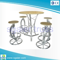 Aluminium truss orange bar stool, bar chairs make in China