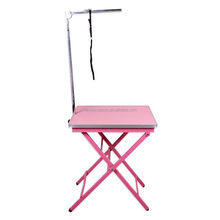 Amazon Hot Sale Foldable Portable with Adjustable Iron Arm Puppy Dog Grooming Tables
