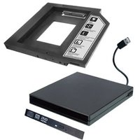 "2.5"" HDD / SSD conversion tray + external slim ODD enclosure - D127e"