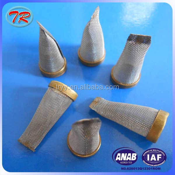 China suppliers the nozzle filter with stainless steel wire mesh material