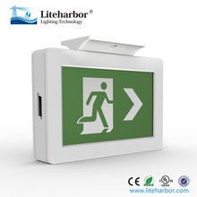 China Factory Free Sample Ceiling and Wall Mounted ABS LED Running Man Emergency Exit light with UL listed