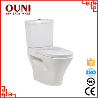 ON-223 Good quality cheap economic ceramic two piece washdown bathroom toilet