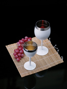 Factory supply stainless steel novelty wine cup beer goblet glass