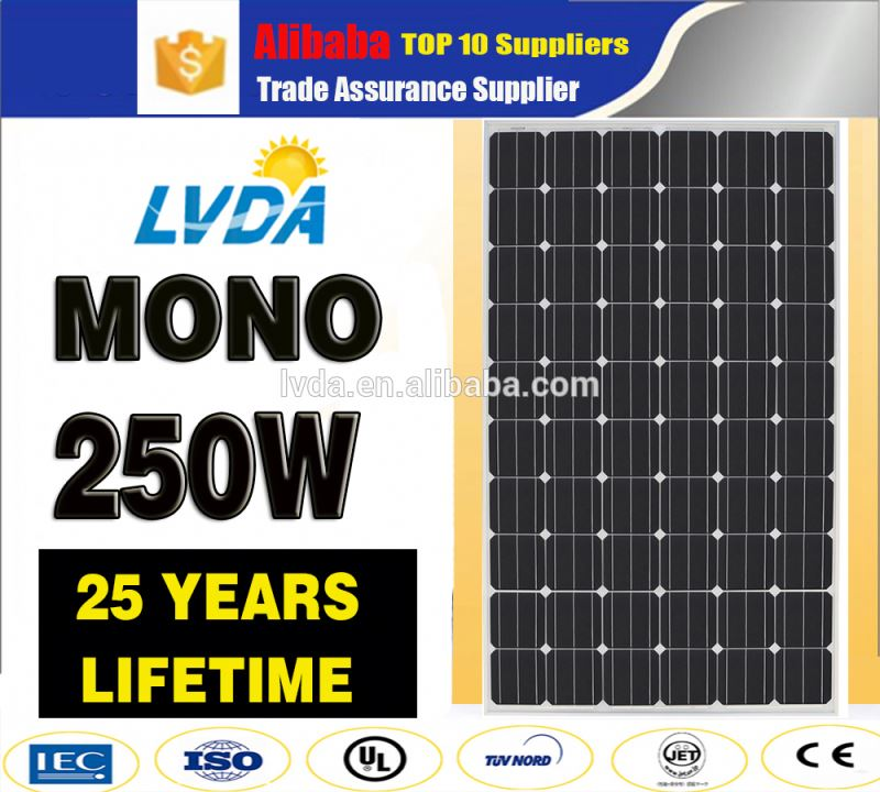 2017 Hot sale 250W monocrystalline solar panel/panel solar/PV modules solar panel mono