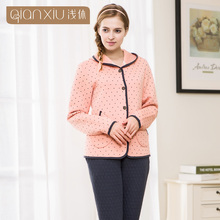 Qianxiu Wholesale Hoodies Thick Cotton Cute Thermal Sexy Girls Winter Night Suits