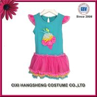 Latest Fashion Design Children Colorful Cotton Soft Girl Frock