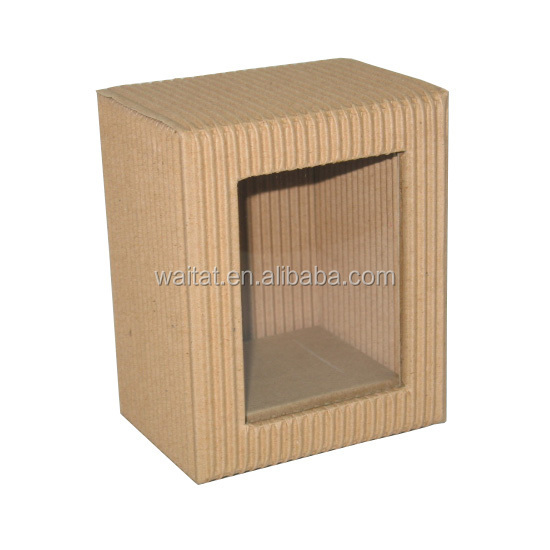 The Cube Creative Elegant Brown Corrugated Paper Wrapped Cardboard Gift Box