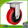 "Galvanized heavy duty 6"" polyurethane plastic trolley wheels"