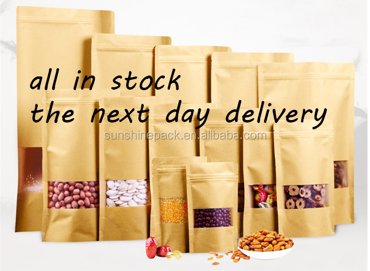 Plastic Polythene Wholesale kraft paper storage bag for meat/beef/sea food/snack