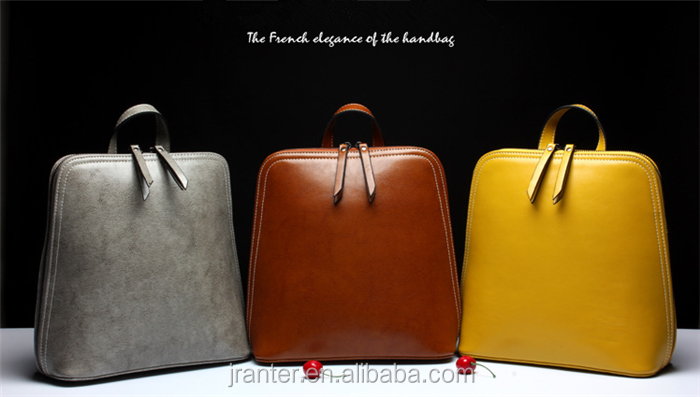 Promotional backpack bag wholesale fashion women leather backpack