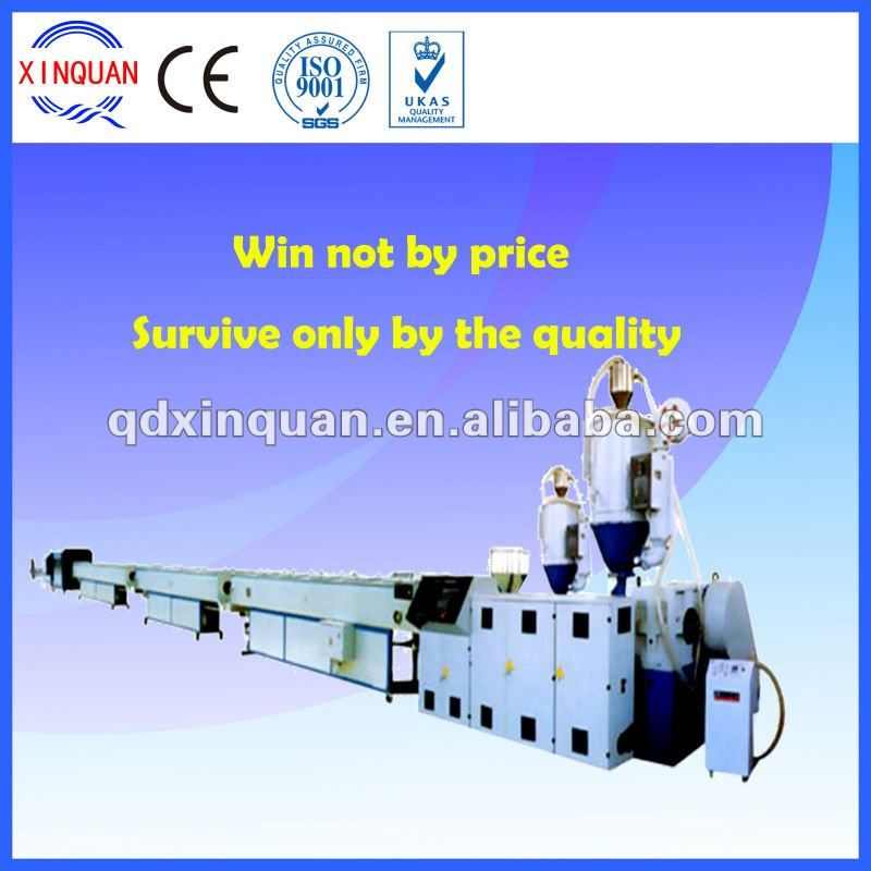 Plastic tube extruder for HDPE gas and water supply, pe pipe production line