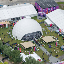 High quality 40m big advertising dome tenta canopy for events, expo dome tents for trade show sale