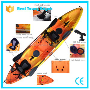 3 Person Plastic Boats Fishing Boat Ocean Kayak China Wholesale