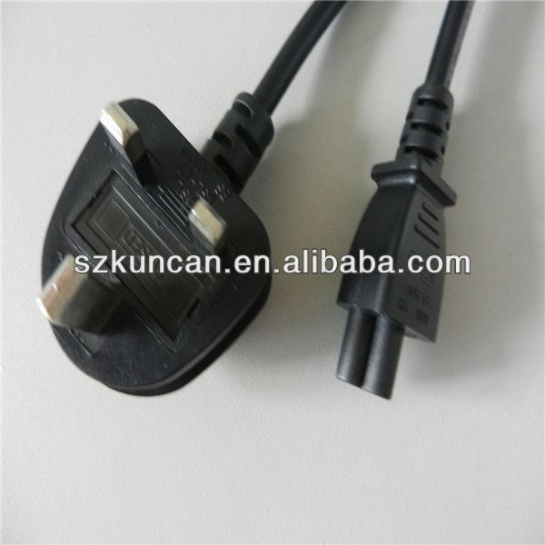 AC supply UK type power plug C5 connector AC power cable for lamptop adapter