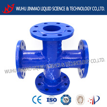 All flanged cross DN65 pipe fitting