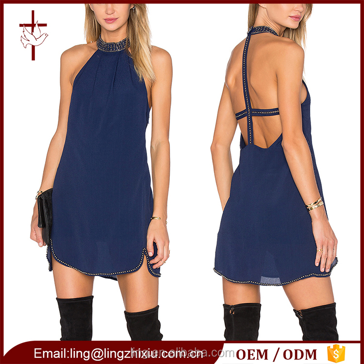Clothing wholesale summer mini nice design ladies smart casual dress