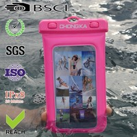 shining pvc waterproof case for blackberry with earphone
