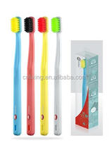 Color changing tooth brush for adult teeth whitening