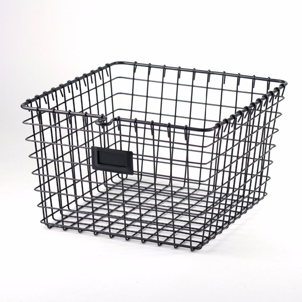 Metal Wire Baskets : Kitchen vegetable storage wire basket with tow handles