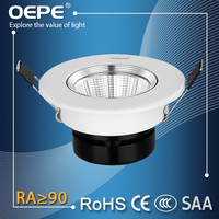 Small Size Cob 5W Led Spotlight With 75mm Cut Out Aluminium Housing Embedded Led Ceiling Spot Light