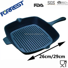 square cast iron bbq grill pan with handle
