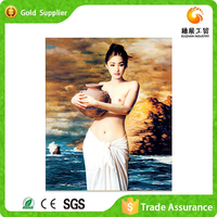 Yiwu factory diamond drawing 3d decorative nude chinese girls photos wall painting