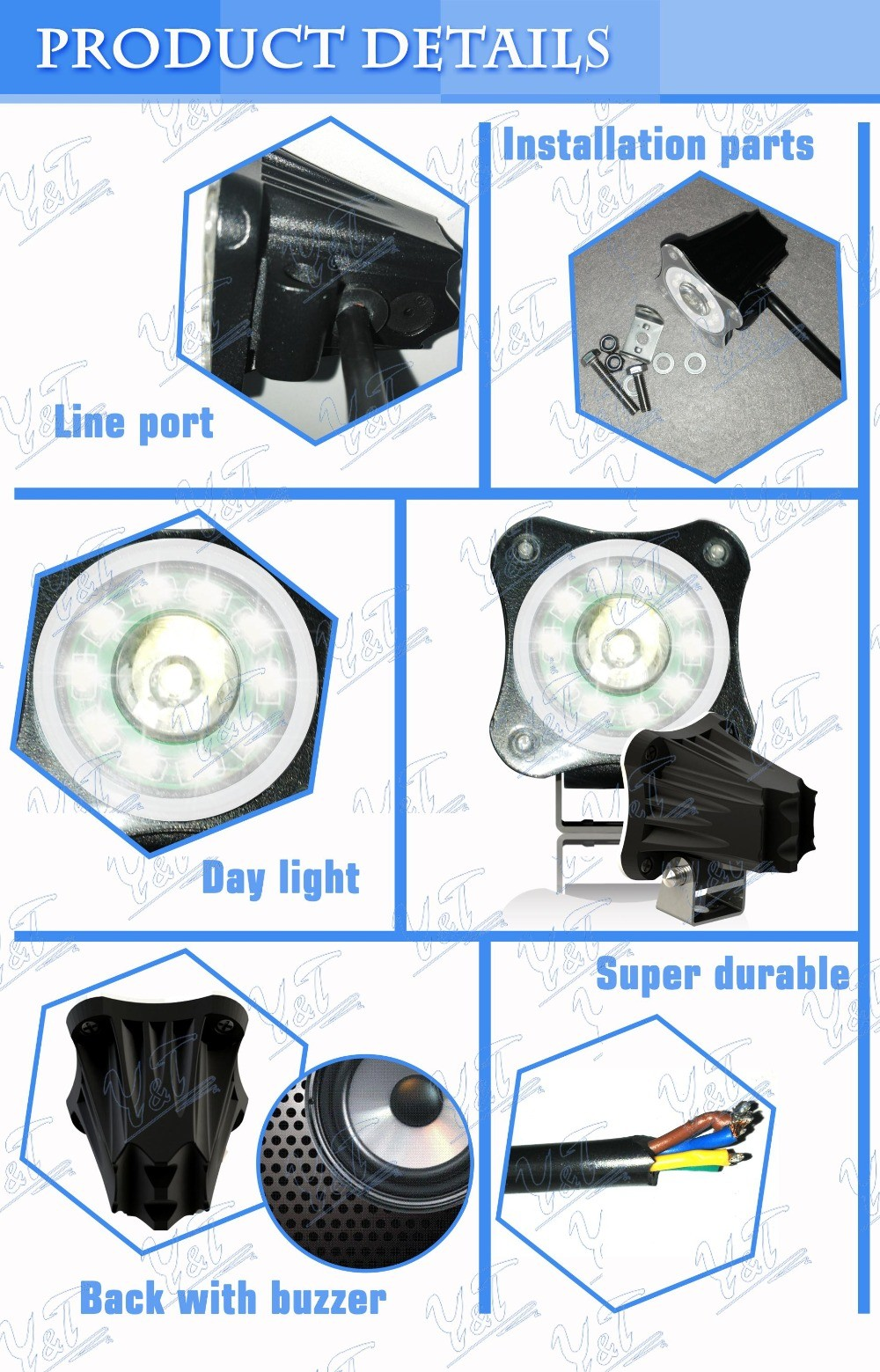 motocycle headlight, 2 inch motorcycle fog light cheap motorcycle parts